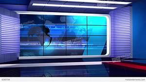 News 35 Virtual Green Screen Background Loop Stock video ...