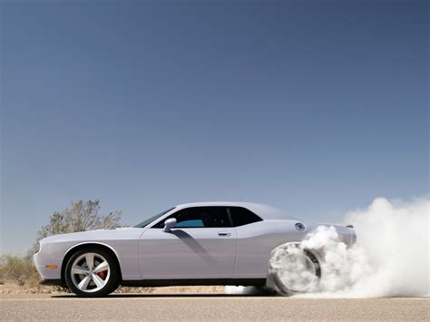 Car Wallpapers Cars Burnout by Cars Car Burnout Dodge Challenger Smoke White