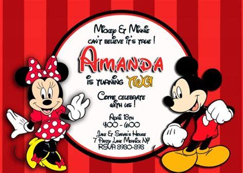 mickey  minnie mouse birthday invitations bagvania