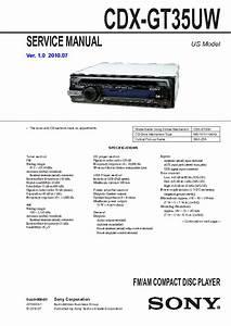 Sony Cdx Gt35uw Wire Diagram