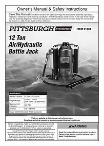 Harbor Freight Tools 12 Ton Air  Hydraulic Bottle Jack