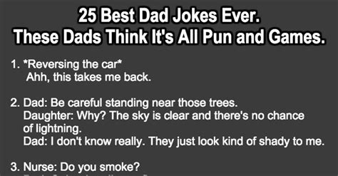 25 Best Dad Jokes Ever. For These Dads It's All Pun And