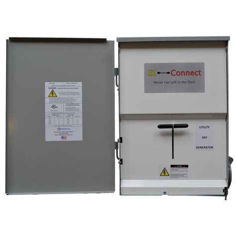 ez connect manual transfer switch with 50 inlet for generator connection ezc r 50 the home