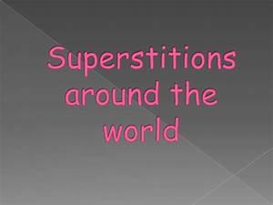 Superstitions around the world