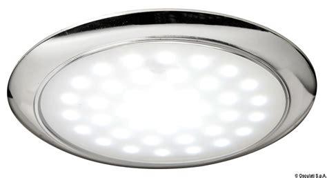 Ultra-flat Led Light Chromed Ring Nut 12/24 V 3 W