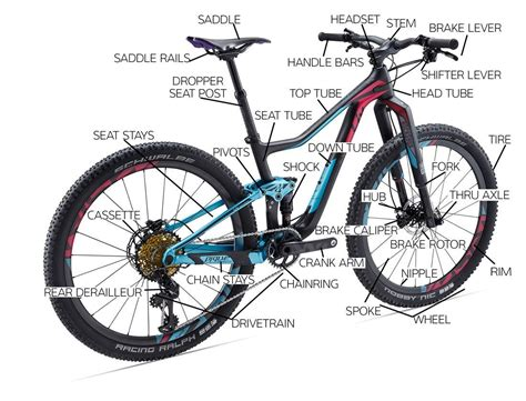 Useful Parts Of A Bicycle In English With