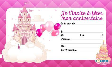 Nous vous proposons différents modèles d'invitation à personnaliser. Invitation anniversaire Princesse , à imprimer gratuitement ! - 1000 idées à faire chez soi