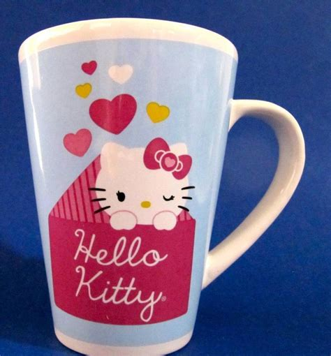 (diameter) 3.35 in or 8.5 cm x (height) 4.72 in or 12 cm finex is a registered trademark. Hello Kitty Hearts Coffee Mug Cup holds 10 ounces by Sanrio at JustLuvTreasures.com | Coffee ...
