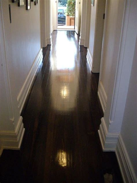 Dark polished timber floors and large skirts   perfect