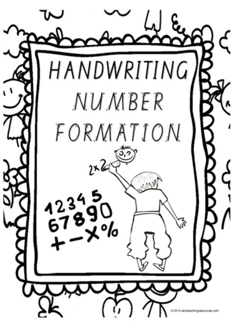 year  handwriting number formation charts qld print