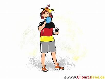 Clipart Fussball Fan Funny Fussballfan Lustiger Football