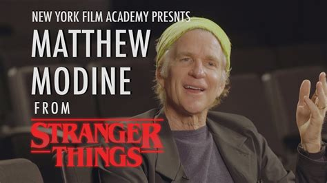 nyfa speaks  matthew modine  york film academy