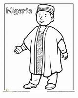 Coloring Traditional Pages Clothing Nigerian Cultures Worksheet Education Worksheets Sheets African Nigeria Different Around India Colouring Thinking Multicultural Crafts Omaľovanky sketch template