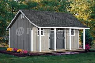16x20 ft guest house storage shed with porch plans p81620 free material list ebay
