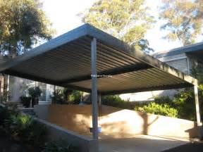 backyard ideas flat roof carport kits single slope pole