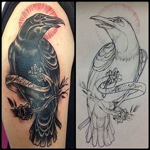 neo traditional crow tattoo Gallery