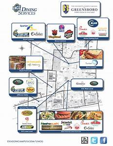 Fall 2013 Uncg Dining Services Campus Map