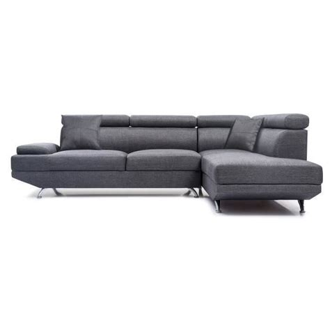 canapé scoop but scoop canapé d 39 angle droit fixe 4 places tissu gris