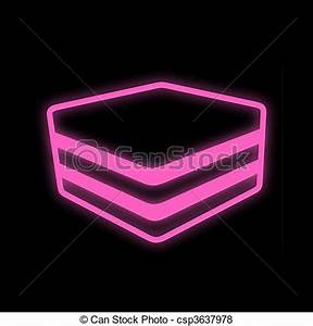 Stock Illustration of nineties neon light candy drop