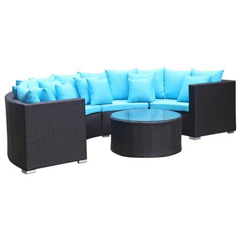 roundano outdoor sofa blue cushions