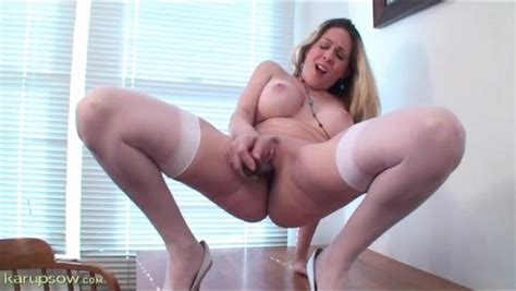 cougar with great tits has solo sex with a toy alpha porno