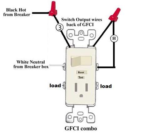 Wire Schematic Switch Schematic Combo Diagram Power To Constant by Wiring Leviton Switch Gfi Outlet Combo Doityourself
