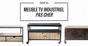 Petit Meuble Tv Pas Cher : meuble tv industriel pas cher le top10 ~ Teatrodelosmanantiales.com Idées de Décoration