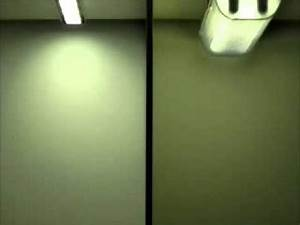 BrightLine 30 30Watt LED luminaires vs fluorescent