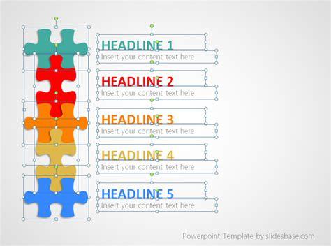 puzzle list diagram powerpoint template slidesbase