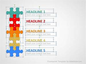 Puzzle List Diagram Powerpoint Template