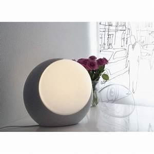 Lampe Boule à Poser : lampe boule marbre blanc ou gris chez ksl living ~ Dailycaller-alerts.com Idées de Décoration