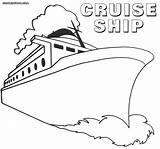 Ship Coloring Pages Titanic Colorings Liner sketch template