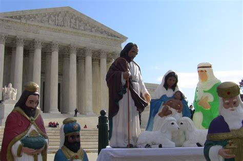 supreme court   outdoor nativity scenes
