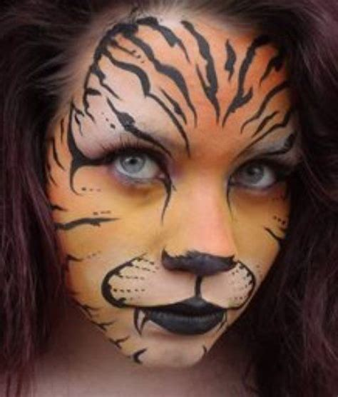 african animal face paint animal face paintings tiger