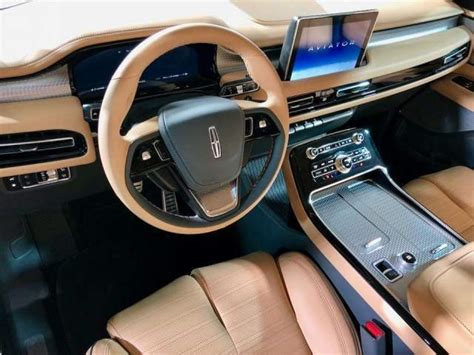 lincoln aviator interior   suvs