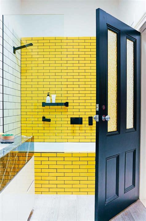 Yellow Tiles Bathroom by Yellow Subway Tiles Bathroom Bathroom Yellow Tile