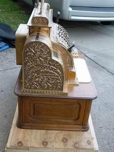 Cash Register Form Antique Brass National Cash Register Obnoxious Antiques