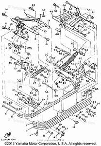 Yamaha Snowmobile 1990 Oem Parts Diagram For Track