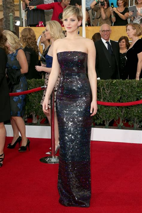 Jennifer Lawrence Dresses Up In Christian Dior Couture For