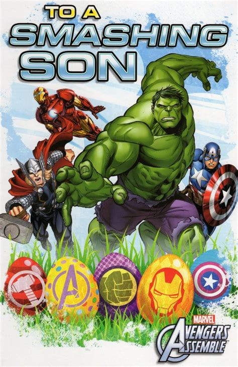 avengers smashing son easter greeting card cards love
