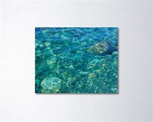 Water canvas art turquoise teal wall ocean