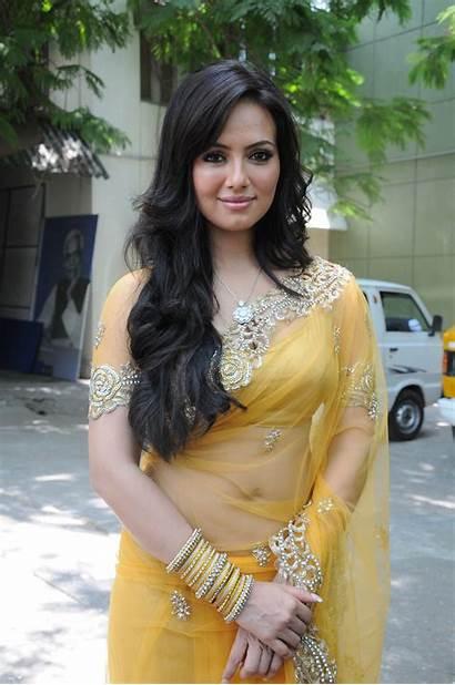 Sana Khan Latest Transparent Actress Saree Spicy