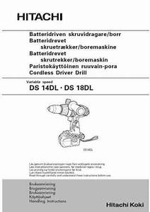 Hitachi Ds 14 Dl Tools Download Manual For Free Now