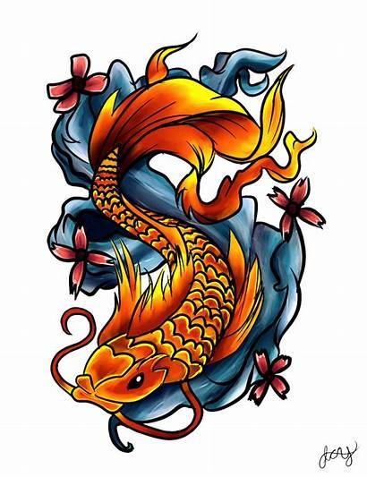 Tattoo Fish Tattoos Transparent Dragon Drawings Koi