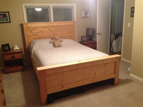 ana white diy wood shim bed plans queen diy projects