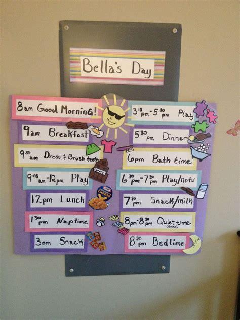Toddler visual schedule   Toddler visual schedule, Toddler ...