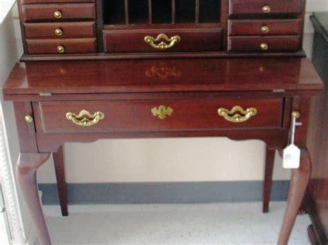 queen anne writing desk ethan allen mahogany writing desk with queen anne legs
