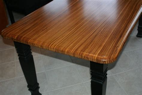 Hand Made Zebrawood Kitchen Table by Carolina Wood Designs