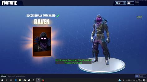 buying  raven skin set   feathered glider