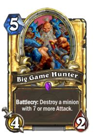 big game hunter hearthstone wiki